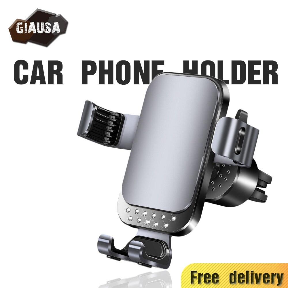 Soporte de teléfono GIAUSA Gravity para coche, apto para rejillas de ventilación de coche, soporte Universal sin magnético GPS para iPhone Samsung Huawei Xiaomi