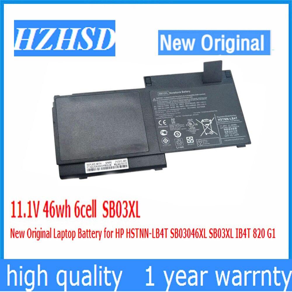 11,1 V 46wh 6cell SB03XL Original nuevo batería de ordenador portátil para HP HSTNN-LB4T SB03046XL SB03XL IB4T 820 G1
