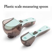 Cuillère à mesurer tasse à mesurer échelle réglable cuillères à mesurer cuillère doseuse outil de cuisson accessoires de cuisine