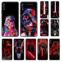 Coque de téléphone Star and Wars pour Huawei Honor Mate 5 6 7 8 9 10 20 A C X Lite noir Etui mode tpu hoesjes coque silicone 3D funda