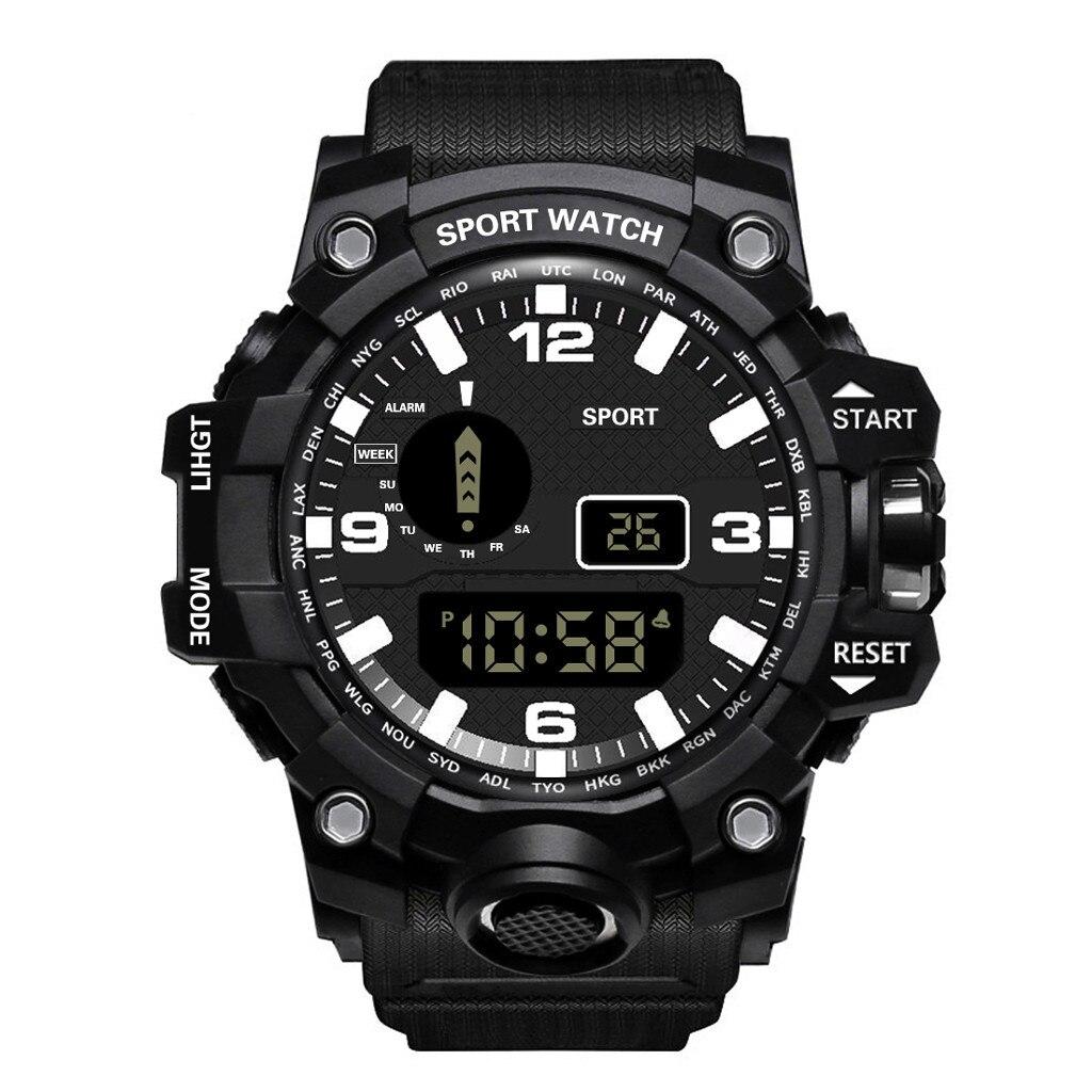 Reloj Digital LED de lujo para hombre, Reloj con fecha de deporte para hombres, Reloj electrónico impermeable para exteriores, Reloj erkek kol saati orologio, mochilas