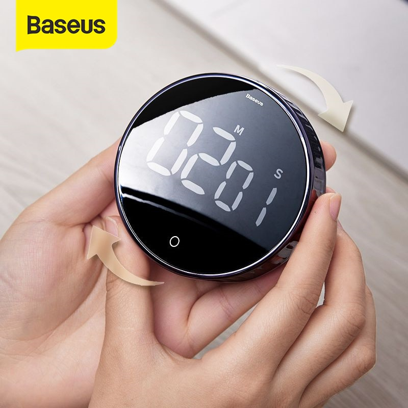 AliExpress - Baseus Magnetic Digital Timers Manual Countdown Kitchen Timer Countdown Alarm Clock Mechanical Cooking Timer Alarm Counter Clock