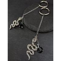 snake hoop sexy earrings hoop hangers silver color gothic aesthetic steampunk hangers animal jewelry long earrings pendant