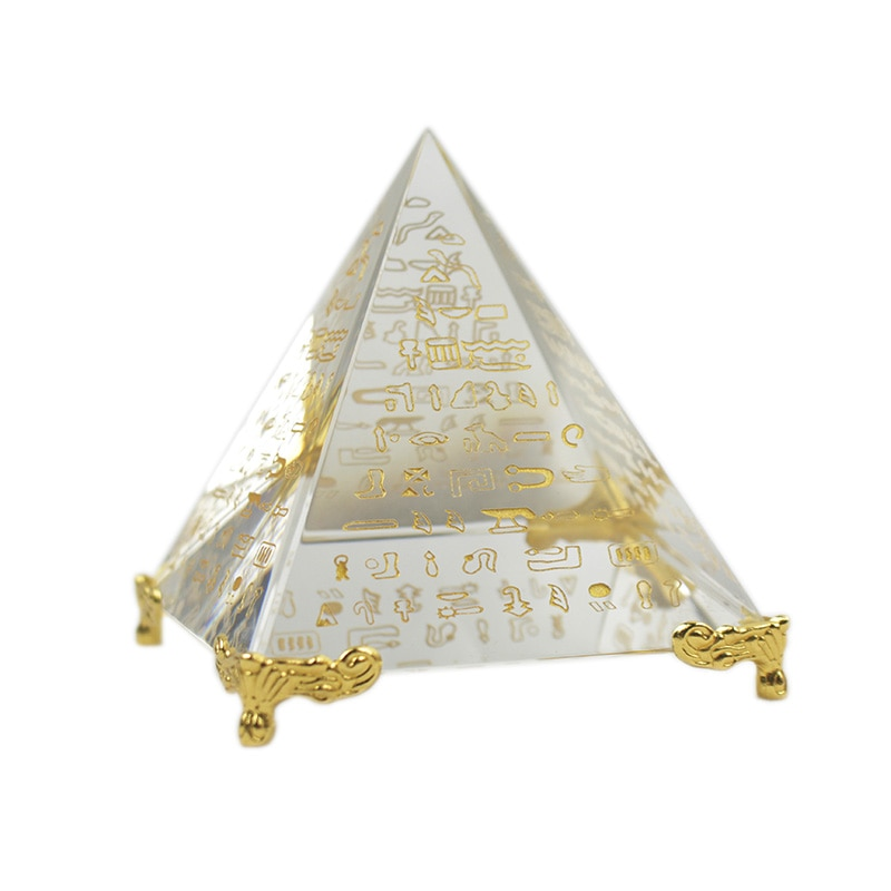Energia única cura feng shui egito egípcio cristal claro pirâmide chakra ornamento decoração para casa sala de estar