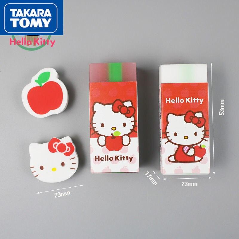 Милый мультяшный ластик TAKARA TOMY с принтом HelloKitty простые школьные детские креативные школьные принадлежности