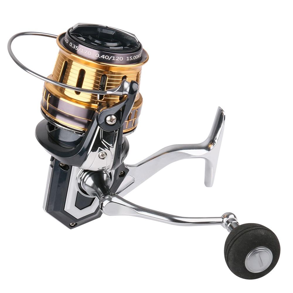 Saltwater Large Spinning Fishing Reel FB8000 FB10000 FB12000 5+1 BB. Gear Ratio 4.1:1 Metal Feet EVA Grip Pills Spinning Wheel enlarge