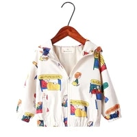 new 2021 high quality spring kids coat boys and girls jacket fashion cartoon printed hooded casual outerwear boys windbreaker