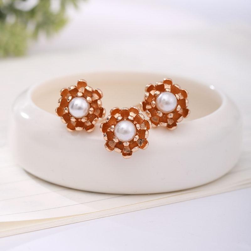 3 unids/set Mini perlas de Color dorado Simple en forma de U horquillas con Clips mujeres niñas uso diario novia fiesta de boda palos de pelo
