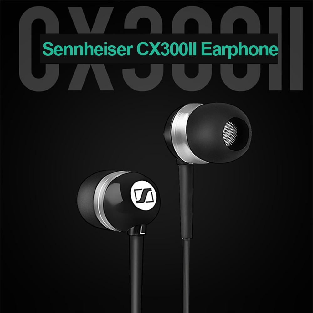 سماعات أذن أصلية من Sennheiser cx 300 ii 3.5 مللي متر, سماعات أذن استريو ، جهير عميق ، سماعة رأس سلكية ، سماعات أذن رياضية دقيقة ، سماعة HIFI
