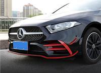 ABS Carbon Fiber Front Bumper Fog Lamp Lip Splitters Aprons Flaps Spoiler For Benz W177 A Class A35 A180 A200 A260 2019 2020