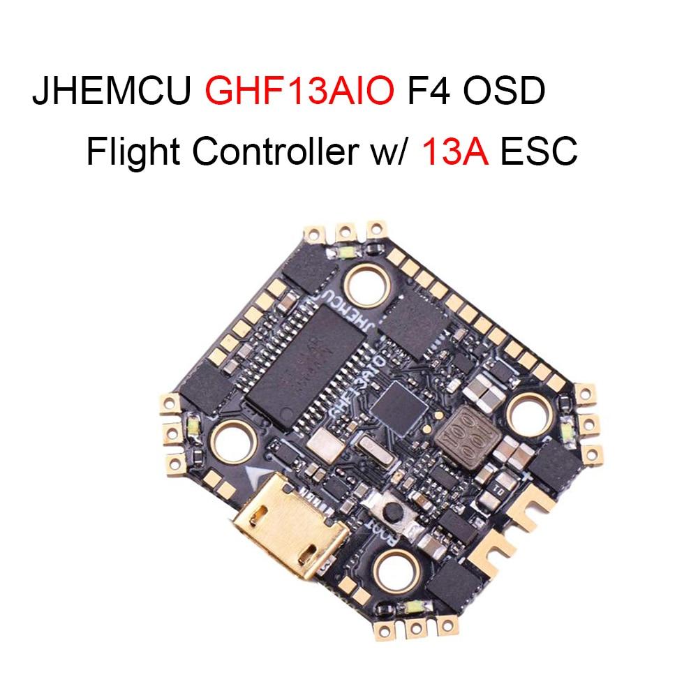 JHEMCU GHF13AIO betafly MPU6000 F4 OSD FPV سباق وحدة تحكم في الطيران ث/المدمج في 13A 4in1 فرش ESC ل RC الطائرة بدون طيار RC أجزاء