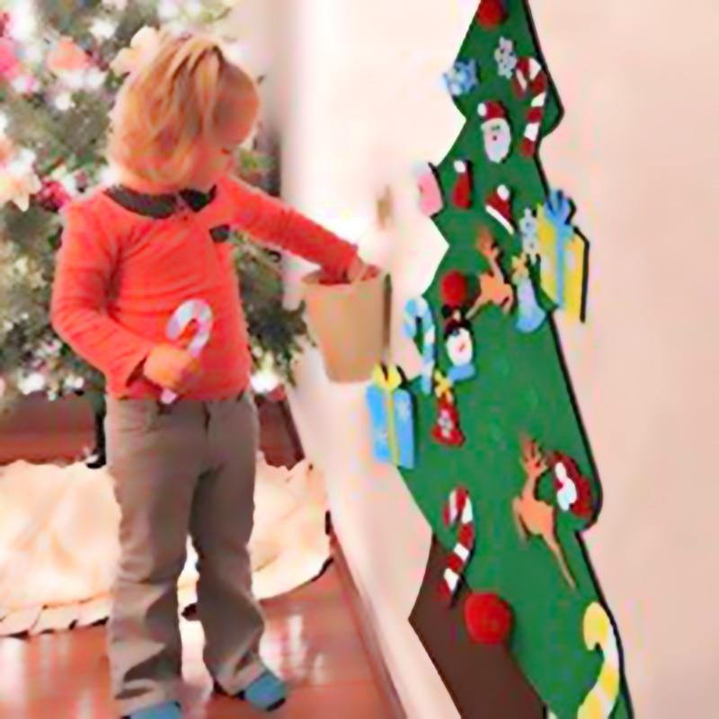 DIY fieltro Artificial árbol de Navidad Mini árbol Navidad 2020 decoraciones de Navidad para el hogar Decoración de fachada de Navidad para el Año Nuevo regalo manos-on vestido hasta natal 2019 casa decoración de pared