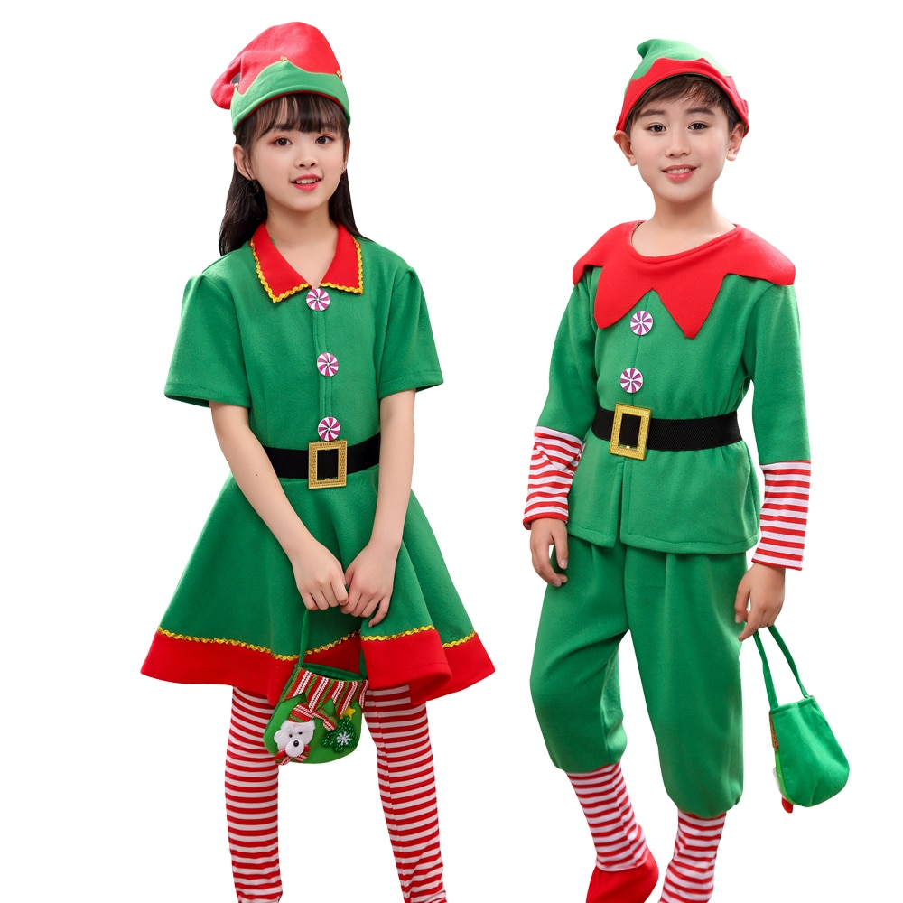 baby costume set 0 2y santa elf climb clothes sets boys gilrs christmas rompers overalls roupas santa claus jumpsuits and hat Halloween Christma Santa Claus Elf Costume Kids Adult Family Matching Clothes New Year Outfit Girls Boys Santa Claus Cosplay Hat