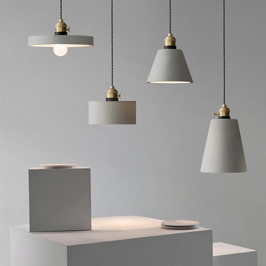 مصباح السقف المعلق E27 Led ، تصميم حديث ، شكل ثريا ، قوالب خرسانية ، أثاث منزلي ، تركيبات إضاءة