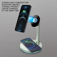 magnetic wireless charger for iphone 12 pro max desktop phone stand wireless charger for airpods xiaomi samsung