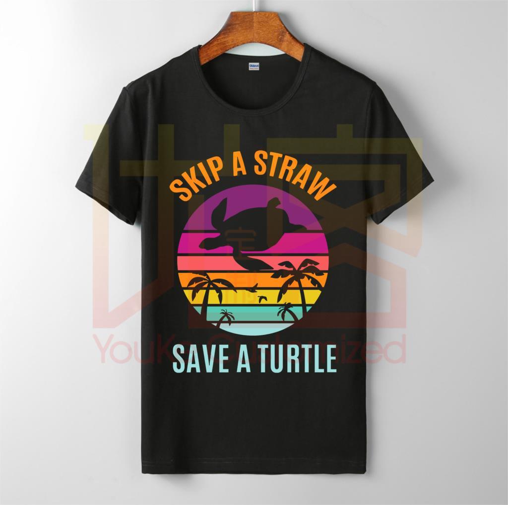 Guardar nuestro océano mantener el mar plástico libre tortuga camiseta hombres algodón camiseta océano contaminación vida agua playa camisetas de manga corta
