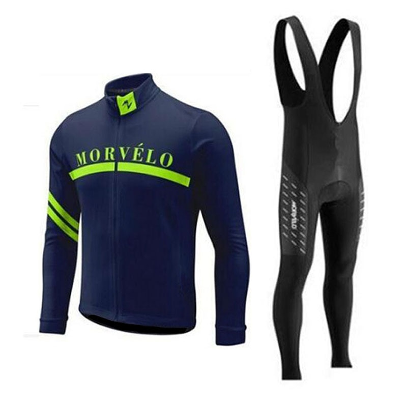 MORVELO-Conjunto de Ropa de Ciclismo profesional, conjunto de camisetas de manga larga para hombre para deportes al aire libre, para Ciclismo de triatlón, 2018
