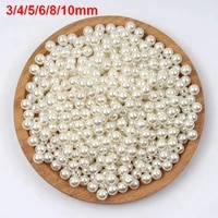 3 10mm various size beige pearl beads round spacer loose beads for jewelry making diy necklace bracelet charm jewelry finding