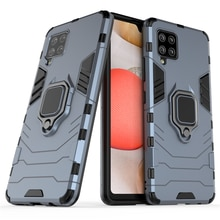 For Samsung Galaxy A12 A32 A42 Case Luxury Car Magnetic Ring Armor Phone Case for Galaxy A52 A72 Bac