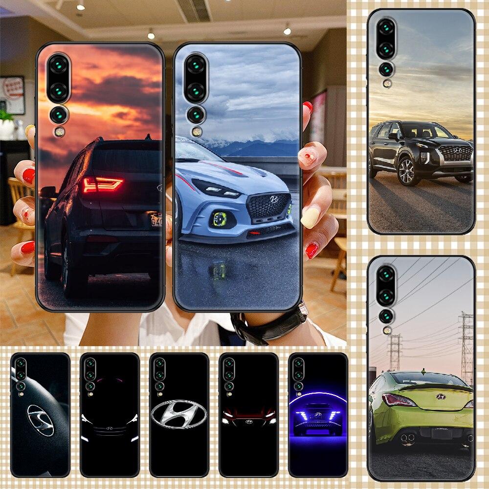 Car hyundais Logo Phone case For Huawei P Mate P10 P20 P30 P40 10 20 Smart Z Pro Lite 2019 black pai
