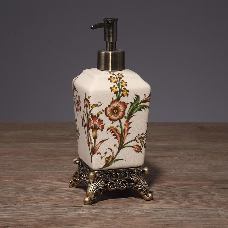 European-Style Crack Ceramic Five-Piece Bathroom Set Toilet Toothbrush Cup American Simple Mouthwash Cup Washing Set Wedding enlarge