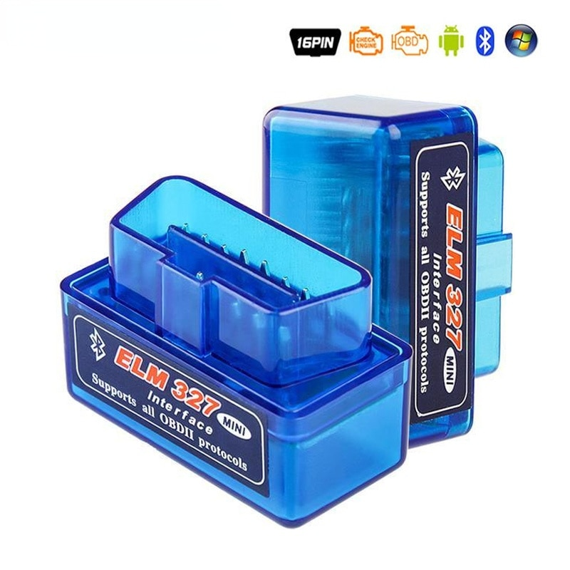 Mini Elm327 OBD Scanner Code V1.5/2.1 Bluetooth-compatible OBD2 Automobile Detector Code Rreader OBDII Car Scanner Repair Tools autool x50 pro obdii hud obd head up display car speed meter scanner multi function automobile speedometer with fault diagnosis