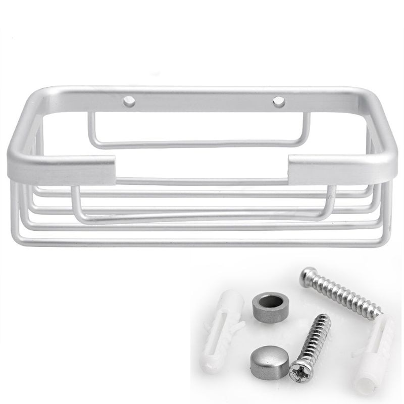 Gancho de baño montado en pared de espacio de aluminio soporte de jabón cesta de jabón