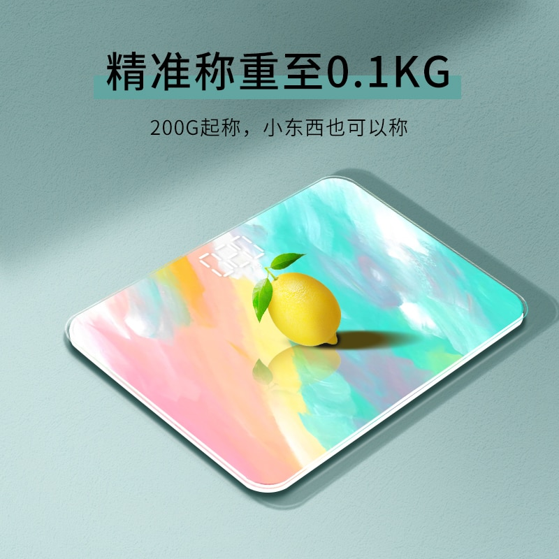 Usb Precision Scale Small Cute  Led Electronic Weight Scale Body Fat Health Bilancia Pesapersone Household Products DI50TZC enlarge