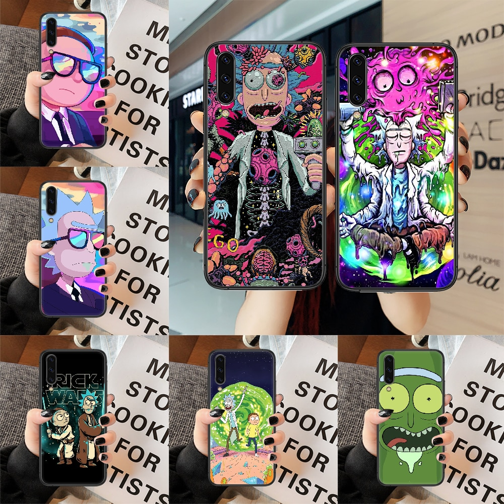 Rick Or Morty Phone Case For Samsung Galaxy A 3 5 7 8 10 20 E 21 30 S 40 50 51 70 71 Black black Hoe
