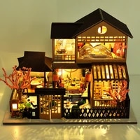 diy doll house wooden large 3d vintage villa model building toys for children new year gifts dollhouse miniature furniture kit