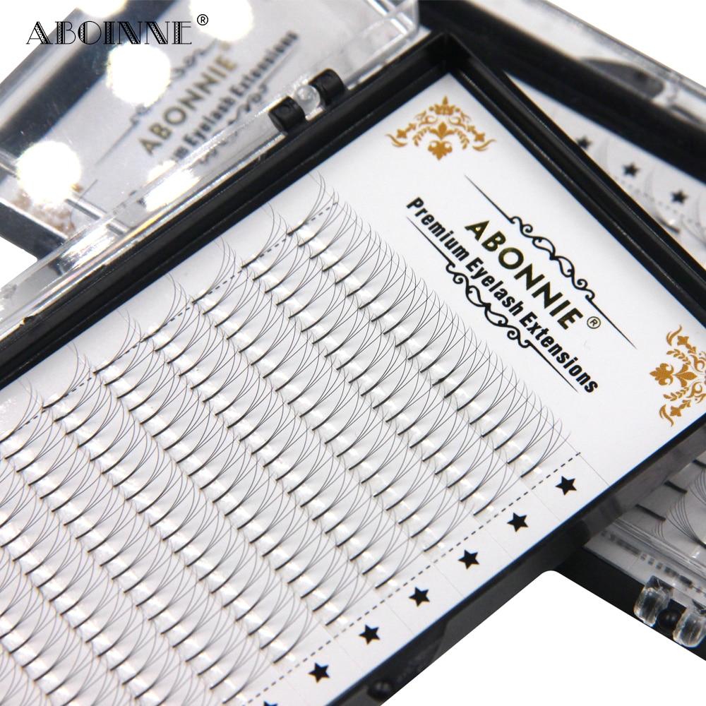 Abonnie 3d/4d/5d/6d חום מלוכד מראש Made נפח אוהדי פו מינק Premade רוסית נפח ריס אספקת הארכת