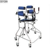 6 wheels zimmer walking frame disabled handicapped adult stroke rehabilitation walk support rollator walker aid aluminum alloy