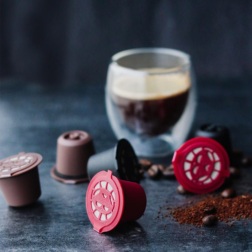 Für Nespresso Edelstahl Nachfüllbare Kaffee Kapsel Tamper Reusable Kaffee Pod Coffeeware