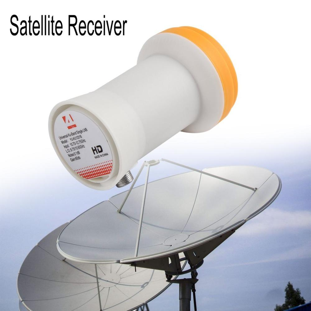 Universal Ku Band Einzigen LNBF 9.75/10,6 KU Dual Ausgang Full HD Digitale KU LNB Satellite Empfänger Hohe band Niedrigen Band Satelliten-TV-Receiver    -