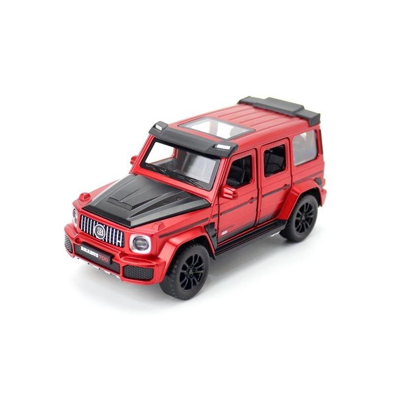 Juguete en miniatura moldeado a presión, vehículo barbo G700 AMG SUV, sonido...