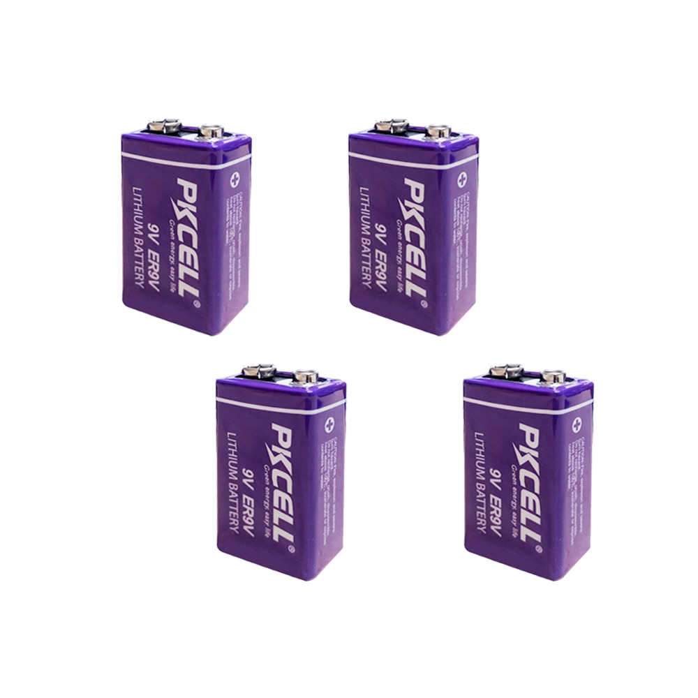 4 Uds ER9V 6F22/6LR61 termómetro PP3 1200mah 10,8 V Litio-cloruro de tionilo (Li-SOCl2) batería ER 9V baterías para alarma de humo