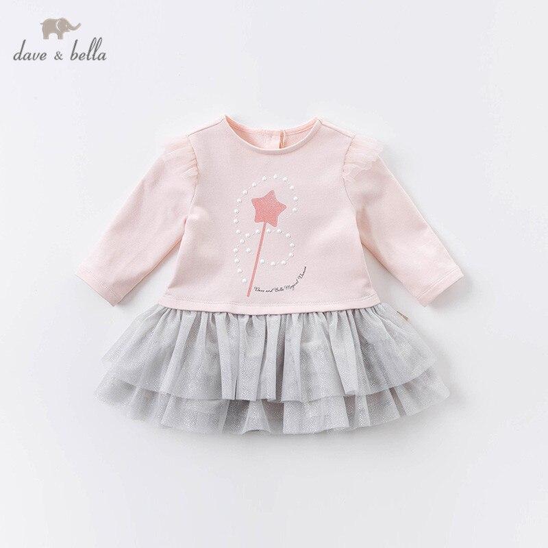 Dave bella/DBS14315 осеннее сетчатое платье с принтом в виде звезд для маленьких девочек, детские вечерние платья, детская одежда в стиле лолита Платья для девочек    АлиЭкспресс