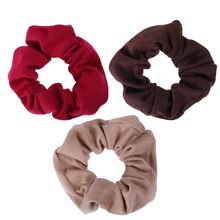 Coréen populaire Web célébrité trois couleurs en option Simple mode couleur Pure Satin cheveux corde tissu Art cheveux cercle