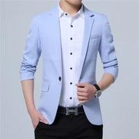 2021 new fashion spring and autumn casual men blazer cotton slim england suit blaser masculino male jacket blazer men size m 5xl