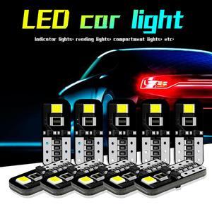 360 ° угол луча 10 шт 12V T10 194 168 W5W SMD светодиодный автомобиль скрытый белый CANBUS Error Free Клин светильник лампочка Оптовая Быстрая доставка,