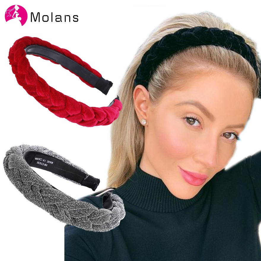 Dodaci za kosu, široke sjajne trake za glavu, pletena traka za glavu, obruč za kosu, modne trake za kosu, pokrivalo za glavu