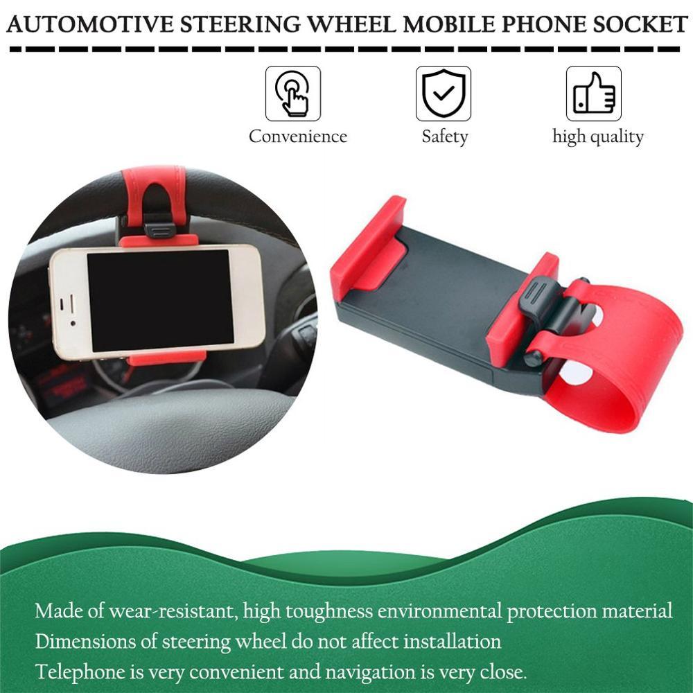 Car Steering Wheel Mobile Phone Socket Holder Car Navigation Support Clip
