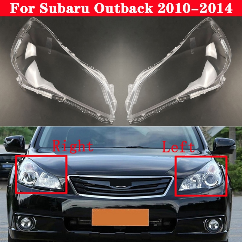 For Subaru Outback 2010-2014 Car Front Headlight Cover Auto Headlamp Lampshade Lampcover Head Lamp light Covers glass Lens Shell