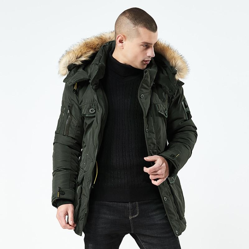 Brand Men's Winter Warm Fleece Jacket Parkas Coats Windproof Casual Outerwear Thick Thermal Long Coat Parka Mal