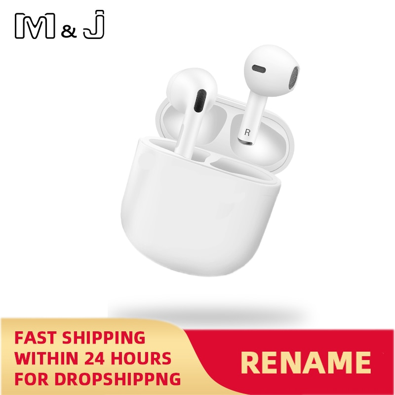 Air Pro 4 TWS Wireless Earphones Rename Bluetooth 5.0 Mini Earbuds with Charging Case Sports Handsfree Headset for Smart Phones