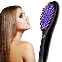 heating straight eu plug hair straightening brushes