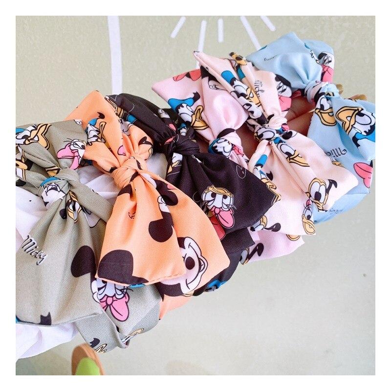 Diseny Minnie Cartoon headband double cross bowknot hair hoop cartoon hairpin jewelry head hoop girl Hair b accessories
