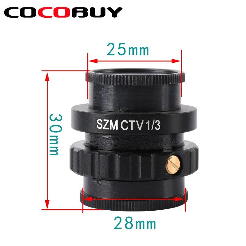 KOPPACE Microscope lens C-mount Lens 1/3 CTV For Trinocular Stereo Microscope 25mm Camera Interface Microscope Camera Adapters