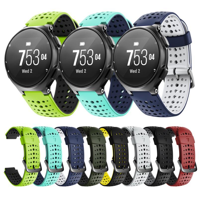 Pulseira banda cinta para garmin forerunner 235-735 silicone substituição relógio inteligente moda pulseira cinto relógio acessórios