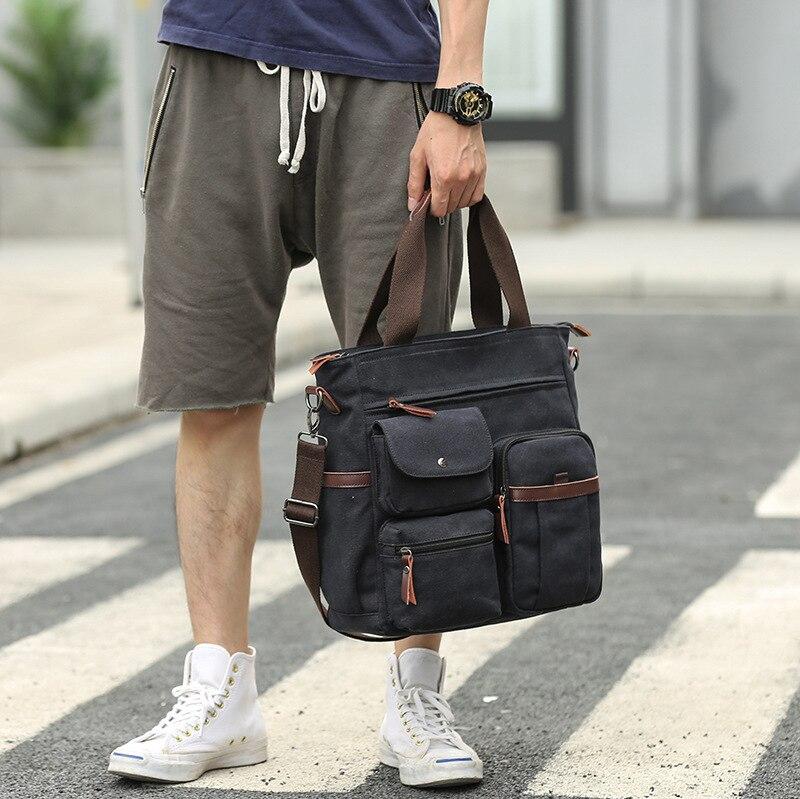 New retro crazy horse skin men's casual business briefcase fashion handbag one-shoulder cross-body bag computer bag